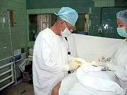 At an operating room