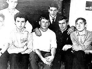 From left to right: Valera Kaygorodov, Arkadiy Blyakher, Volodya Bobkov, Sasha Salmayer, Vagram Agadzhanyan, Volodya Kardashov, Oleg Syedyshev.
